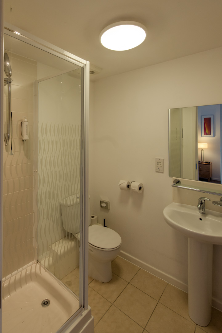 PREMIER SUITES Newcastle bathroom with shower